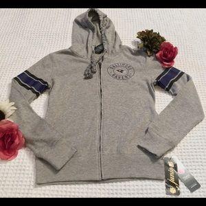 NFL Shop Juniors Ravens Hooded Sweatshirt. Size S